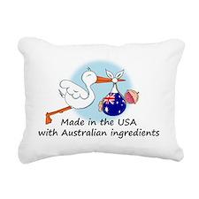stork baby austr 2 Rectangular Canvas Pillow