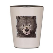 Black bear with bee  Shot Glass