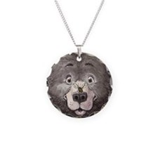 Black bear with bee  Necklace