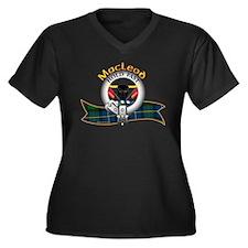 MacLeod Clan Women's Plus Size V-Neck Dark T-Shirt