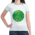 Celtic Triskele Jr. Ringer T-Shirt