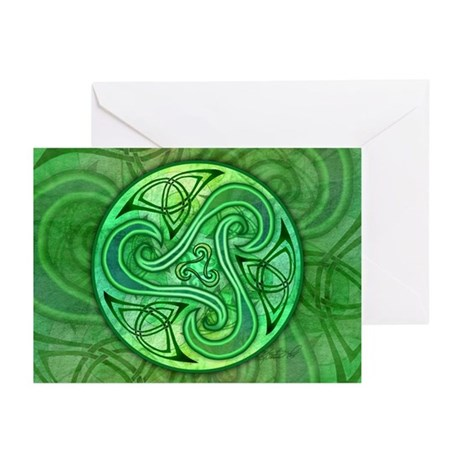 Celtic Triskele Greeting Cards (Pk of 10)