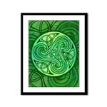 Celtic Triskele Framed Panel Print