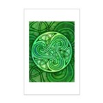 Celtic Triskele Mini Poster Print