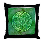 Celtic Triskele Throw Pillow