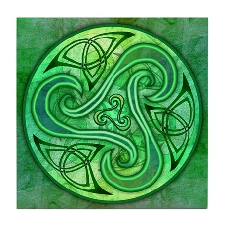 Celtic Triskele Tile Coaster