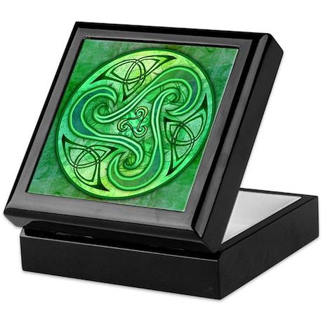 Celtic Triskele Keepsake Box