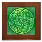 Celtic Triskele Framed Tile
