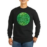 Celtic Triskele Long Sleeve Dark T-Shirt
