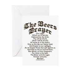 The Beers Prayer Greeting Cards