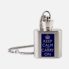 Keep Calm and Carry On Water Bottle Flask Necklace