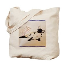 Laid Back Siamese and Plant_pillow Tote Bag