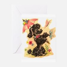 Perky Poodle Greeting Cards