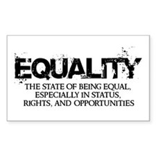 Equality Rectangle Decal
