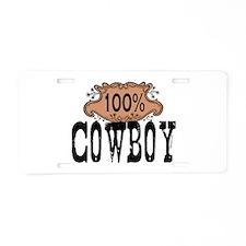 100 Cowboy Aluminum License Plate