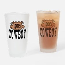 100 Cowboy Drinking Glass