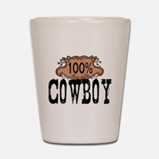 100 Cowboy Shot Glass