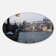 I Love Prague St Charles Bridge Decal
