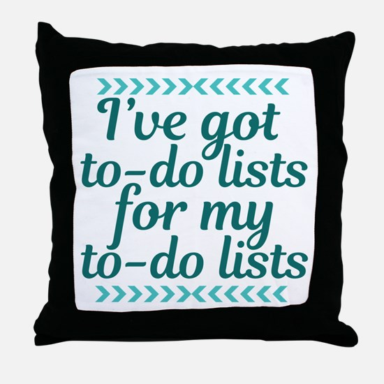 To Do Lists Throw Pillow