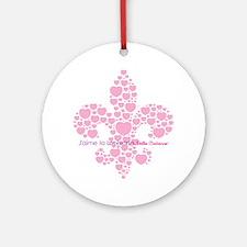 Belle Cadienne Jaime Louisiane Round Ornament