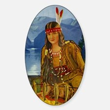 INDIAN MAIDEN Sticker (Oval)