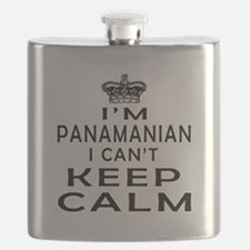 I Am Panamanian I Can Not Keep Calm Flask
