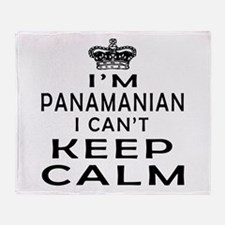 I Am Panamanian I Can Not Keep Calm Throw Blanket