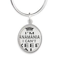 I Am Panamanian I Can Not Keep Calm Silver Oval Ne
