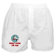 Holy Cow Im 40 Boxer Shorts