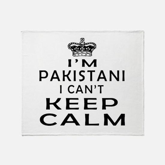 I Am Pakistani I Can Not Keep Calm Throw Blanket