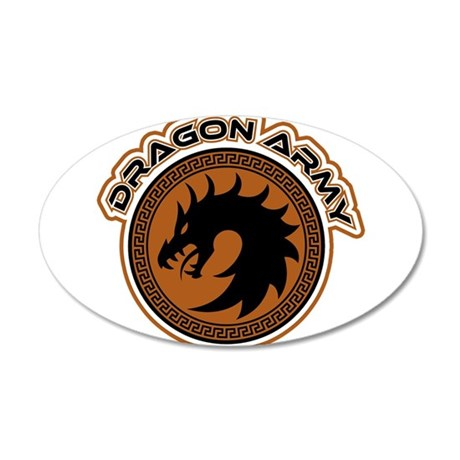 Dragon Army Logo 35x21 Oval Wall Decal