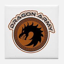 Dragon Army Logo Tile Coaster
