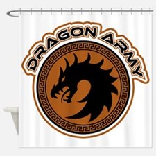 Dragon Army Logo Shower Curtain