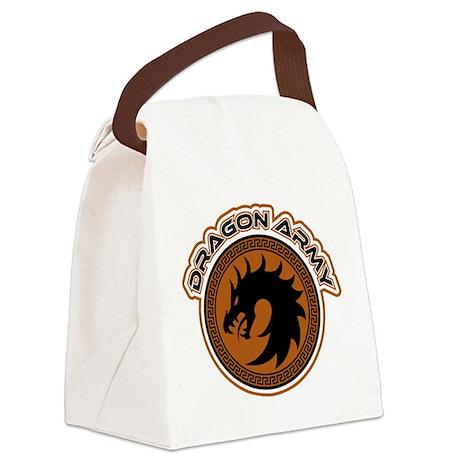 Dragon Army Logo Canvas Lunch Bag