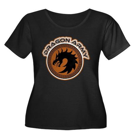 Dragon Army Logo Women's Plus Size Scoop Neck Dark