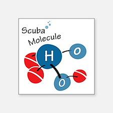 "10x10-tshirt-scuba-molecule Square Sticker 3"" x 3"""