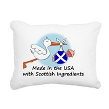 stork baby scot 2 Rectangular Canvas Pillow