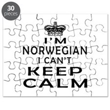 I Am Norwegian I Can Not Keep Calm Puzzle