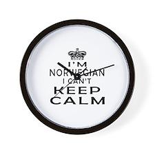 I Am Norwegian I Can Not Keep Calm Wall Clock
