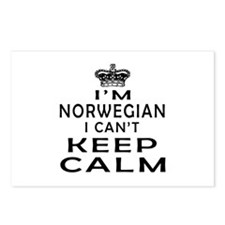 I Am Norwegian I Can Not Keep Calm Postcards (Pack