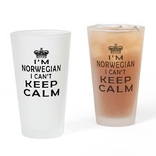 I Am Norwegian I Can Not Keep Calm Drinking Glass