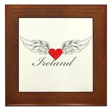Angel Wings Ireland Framed Tile