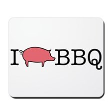 I Cook BBQ Mousepad