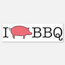 I Cook BBQ Bumper Bumper Bumper Sticker