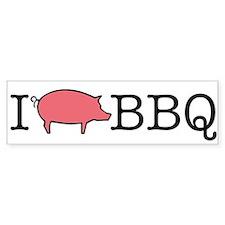I Cook BBQ Bumper Bumper Sticker