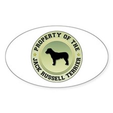 Terrier Property Oval Decal