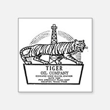"Tiger Oil Company Square Sticker 3"" x 3"""