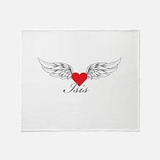 Angel Wings Isis Throw Blanket