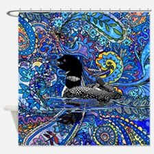 Paisely Loon Shower Curtain