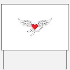 Angel Wings Itzel Yard Sign